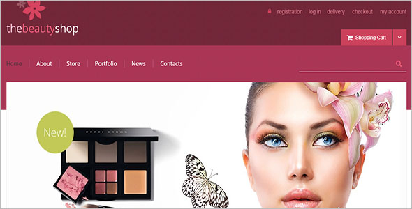 Retro Beauty Shop WooCommerce Theme