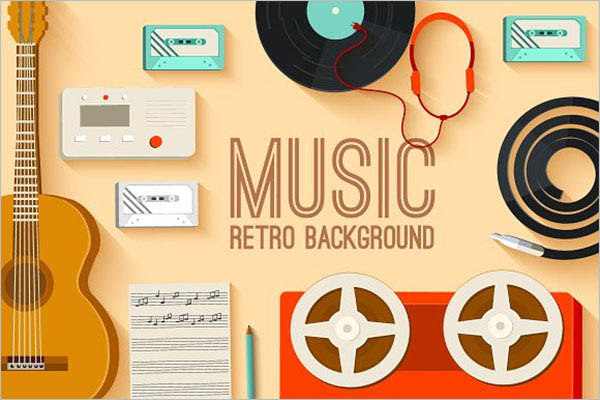 Retro Musical Equipment Background