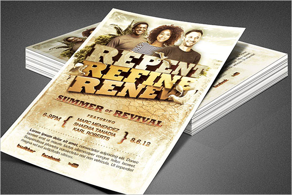 Revive Church Flyer Template Free