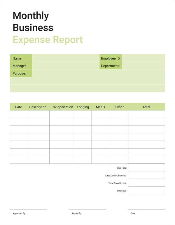 Sample Formal Business Report Template
