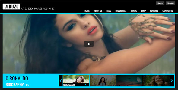 Simple & Beautiful Video Website WordPress Theme
