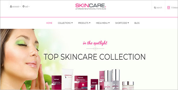 Skin Care Ecommerce Shopify Theme