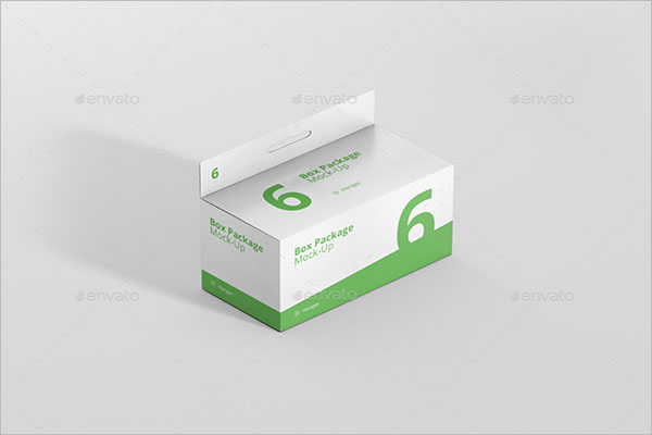 Square Long Box MockUp Template