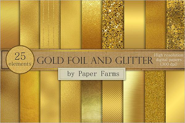 Texture Models Of Gold Glitter