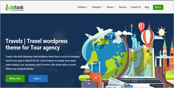 Travel WordPress Tour Agency Theme