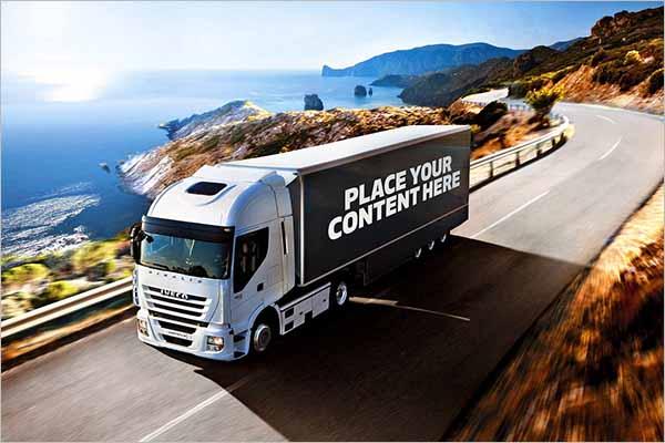 Truck Mockup Photoshop Design