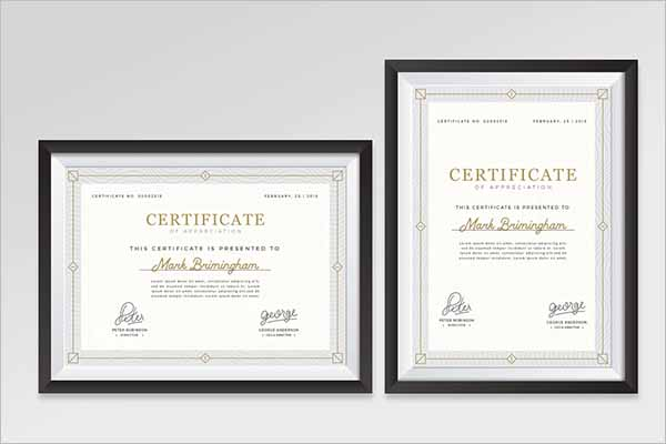 Unique Certificate Frame Design