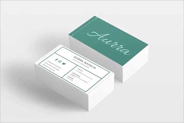 Unique Fashion Business Card Template