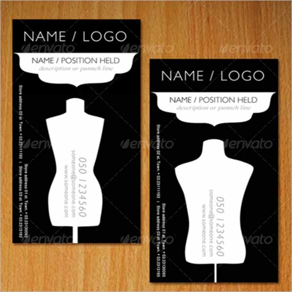 Vintage Fashion Business Card Template
