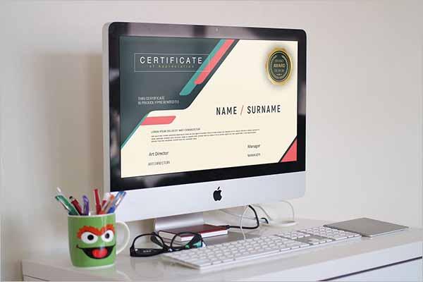 Web Certificate Template