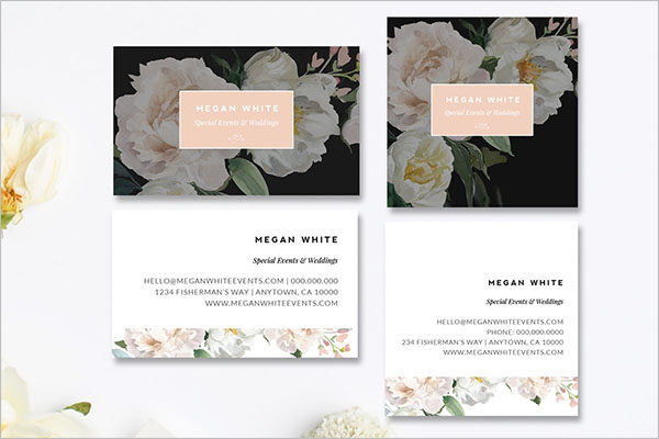Wedding Business Card Templates