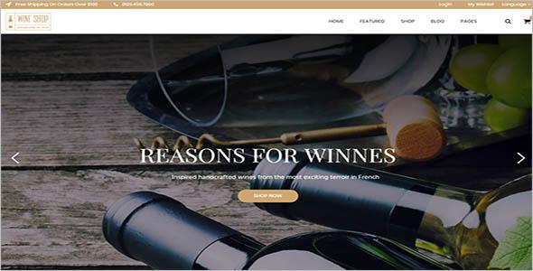 Wine & Restaurant WooCommerce Theme