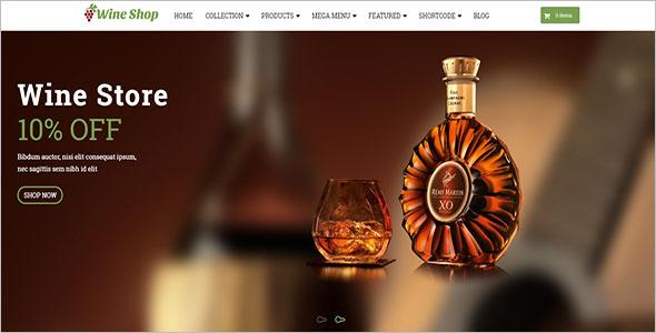 Wine Shopify Website Theme