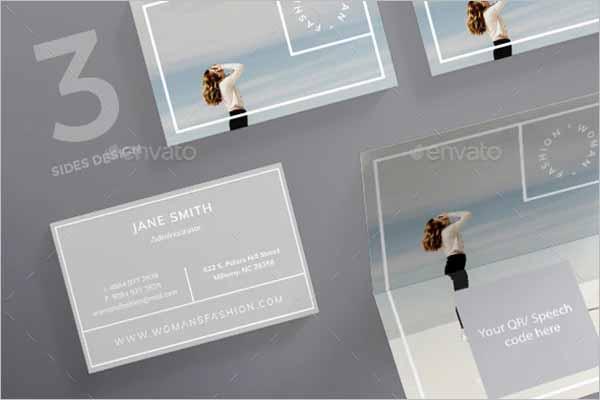 Women Fashion Business Card Template