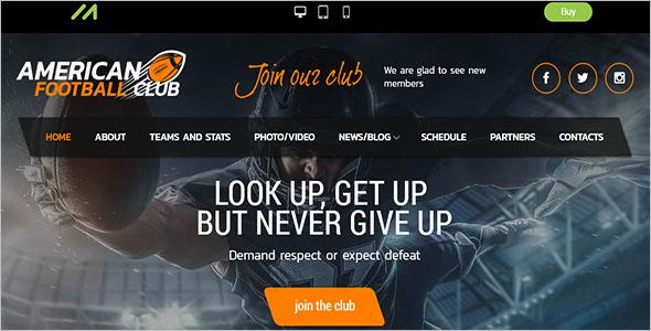 Wordpress American Football Club Theme