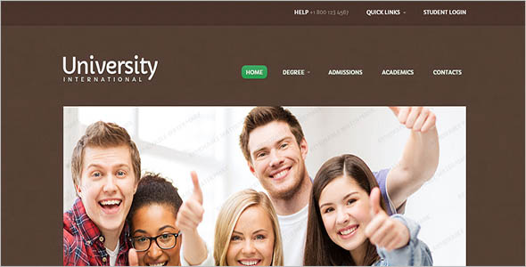 Wordpress Template For College