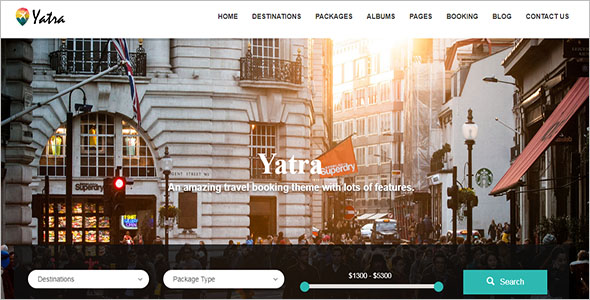 Yatra Travel Booking WordPress Theme
