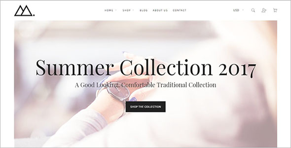 eCommerce Shopify Website Template