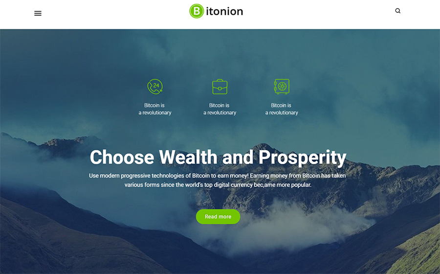 Bitonion - Cryptocurrency Elementor WordPress Theme