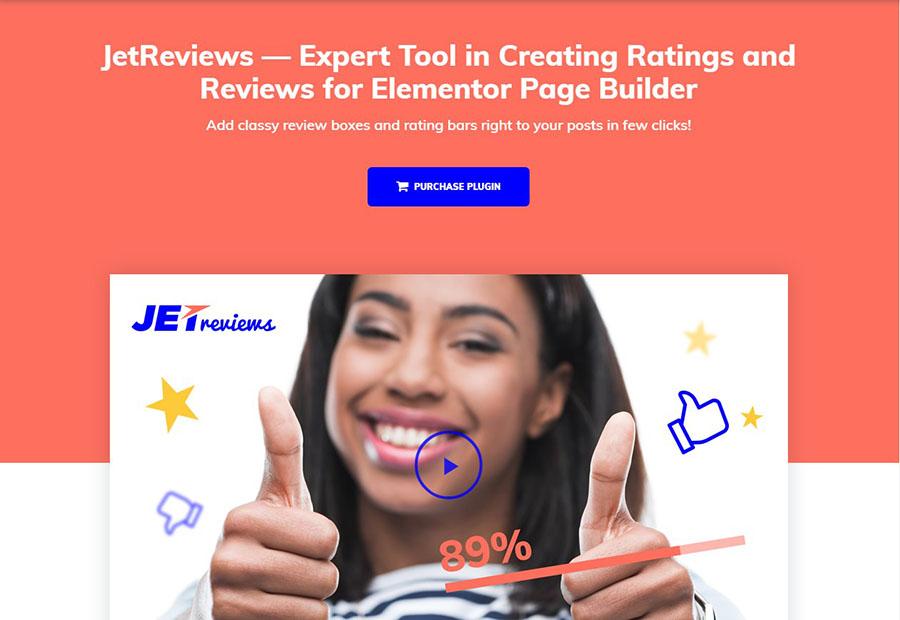 Reviews Widget for Elementor Page Builder WordPress Plugin