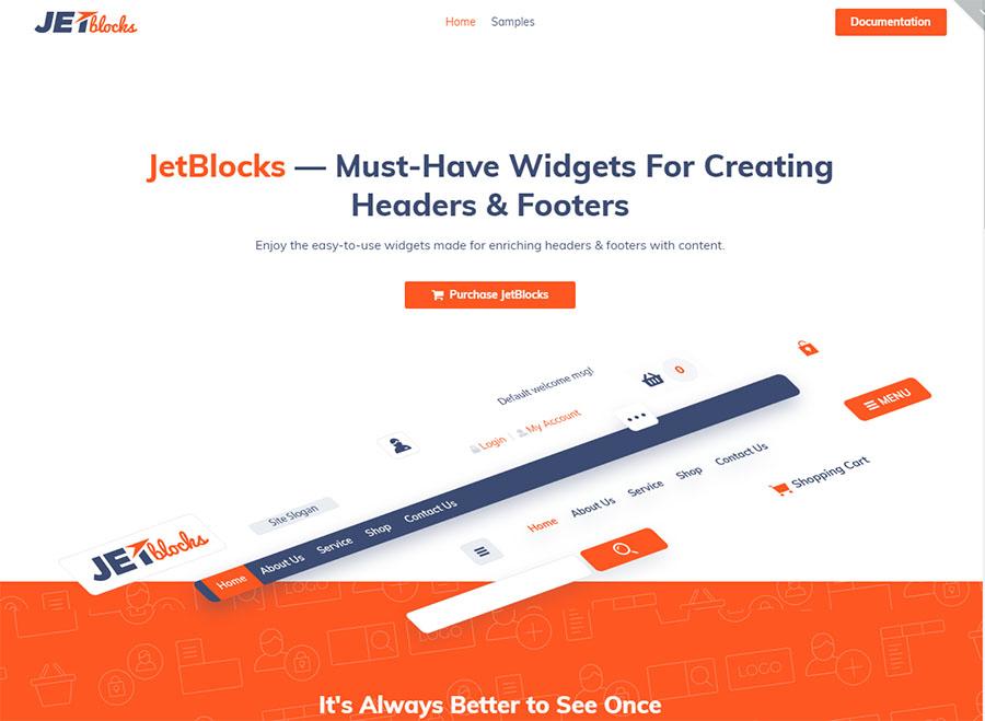 Elementor Header & Footer Widgets WordPress Plugin
