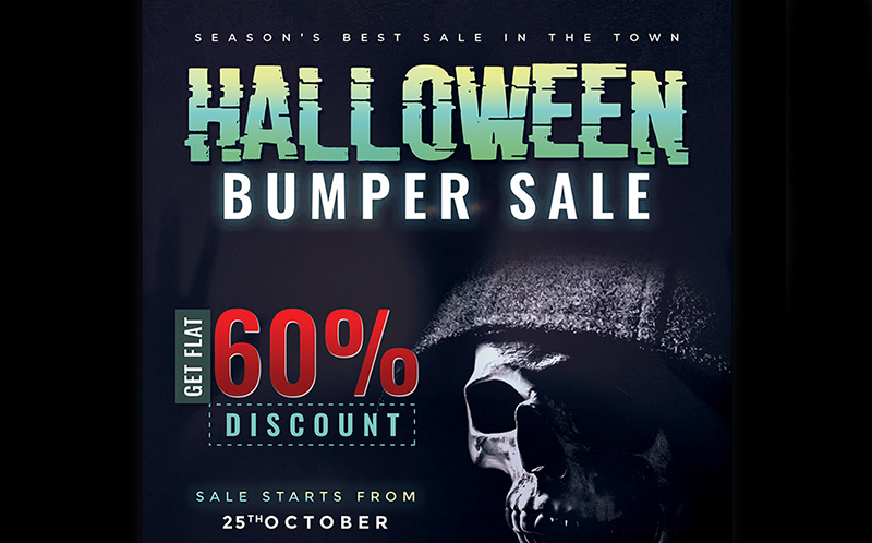 Halloween Bumper Sale Flyer Corporate Identity Template