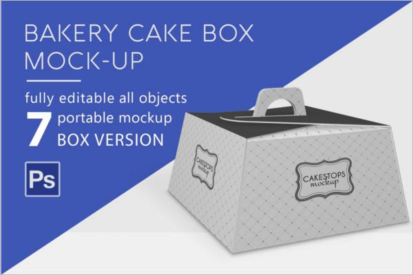 Bakery Cake Box Mockup