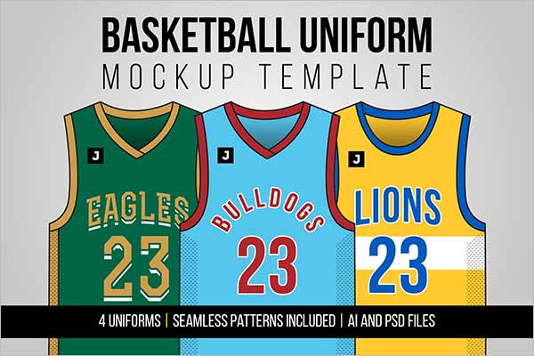Best Basketball Uniform Mockup Template