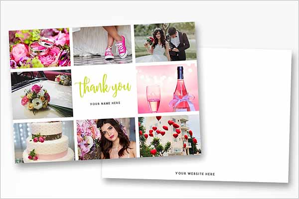 Best Blank Thank You Card Template