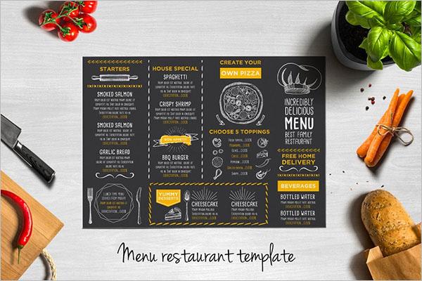 Best Tri-Fold Menu Design Templates