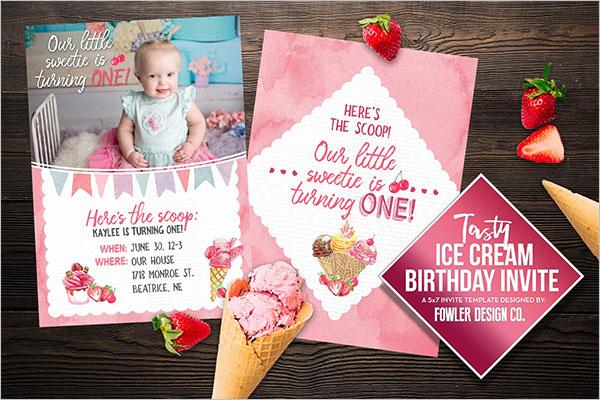 Birthday Ice Cream Cone Template