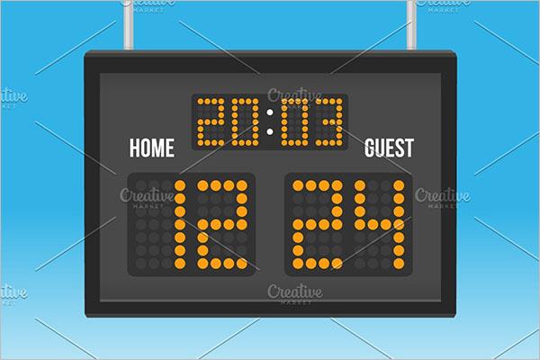 Blank Scoreboard Template