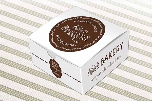 Cake Box Design Template