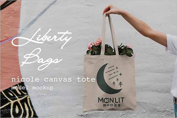 Canvas Bags Tote Mockup Template