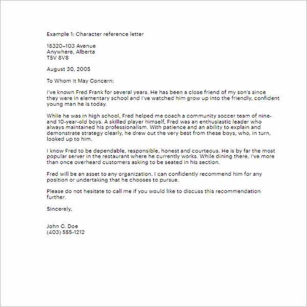 Character Reference Letter For Landlord from images.creativetemplate.net
