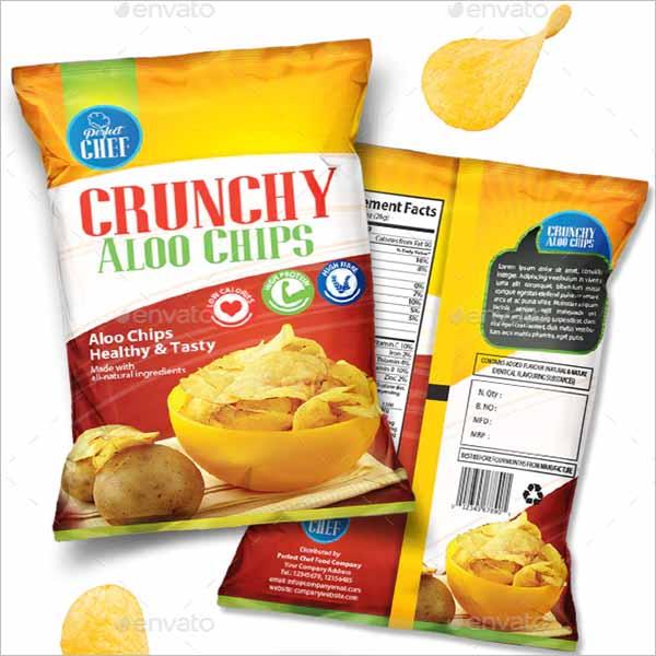 Chips Bag Mockup Illustrator