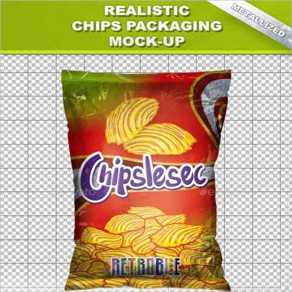 Chips Bag Mockup Template