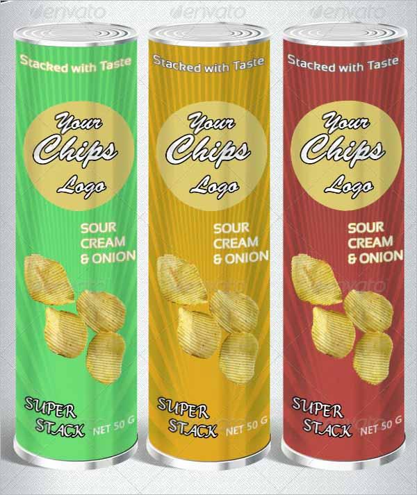 Chips Bag packages Mockup Set
