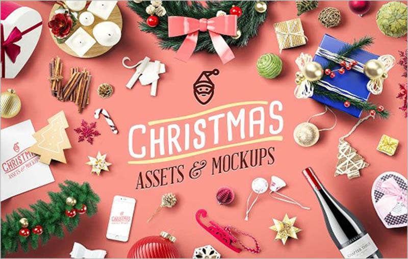 Christmas Scene Mockup Design
