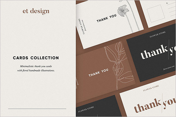 Collection Thank You Card Templates