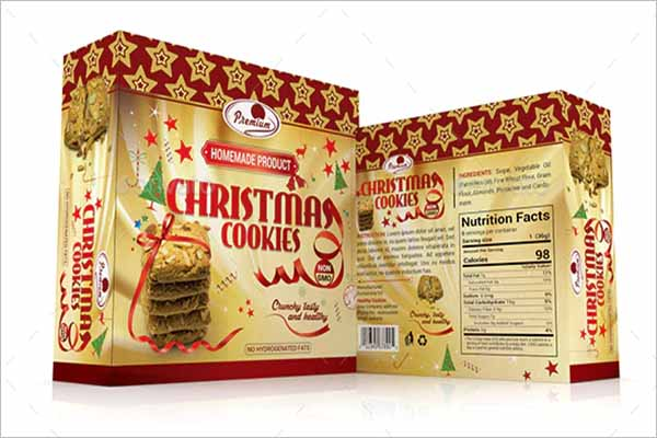 Cookies Gift Box Template