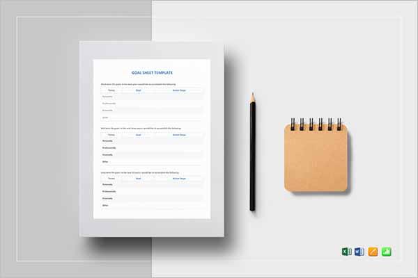 Creative Goal Setting Worksheet Templates