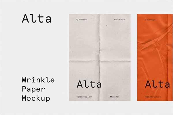 Creative Paper Mockup Design
