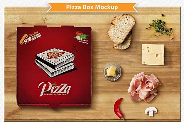 Creative Pizza Box PSD Templates