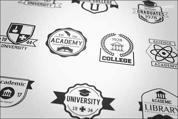 Creative School Badges Design