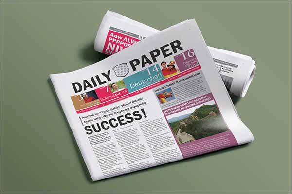 DailyNewspaper Mockup Design