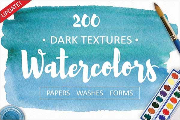 Dark Watercolor Texture Design