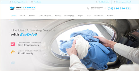Dry Cleaning WordPress Website Template