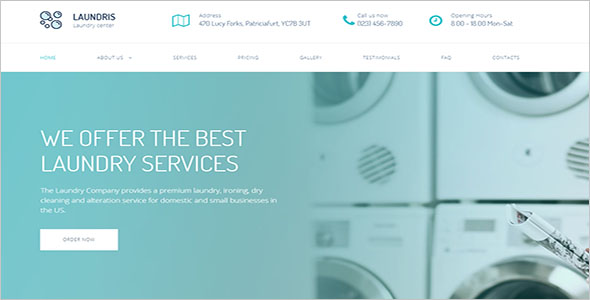 Dry & Laundry Website Theme