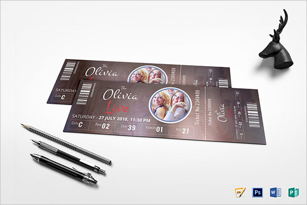 Event Show Time Ticket Template